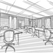 sketch of office